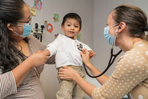 Nurse practitioner with Archer Family Health Care provides patient care.